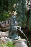 Bronzefigur Froschkönig Friedemann Wasserspiel Bronze Skulptur Rottenecker