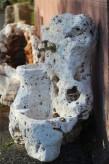 Zapfstelle Garda inkl. Wasserhahn 110cm   Naturstein Travertin antik Gartenbrunnen