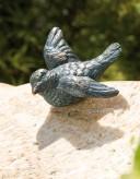 Bronzefigur Vogel Flügel offen 4cm Bronze Gartenfigur Rottenecker