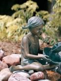 Bronzefigur Kind Sara 33cm Bronze Gartenfigur Wasserspeier Rottenecker