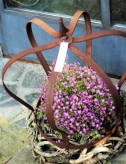 Krone Edelrost 40cm Flacheisen Metallkrone Dekokrone Pflanzkrone Shabby Cottage & Vintage