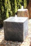 Wasserspiel SET Würfel Granit 60 Springbrunnen inkl. Pumpe Becken