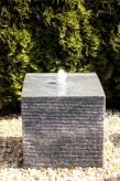 Wasserspiel SET Quellstein Würfel 50cm Granit Gartenbrunnen inkl. Pumpe