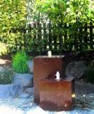Wasserspiel SET: Cortenstahl 2er Kubus 60/100 Springbrunnen Gartenbrunnen