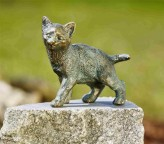 Bronzefigur Junge Katze Lilly 16cm Bronze Skulptur Rottenecker