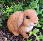 Gartenfigur Kaninchen Pummel 12cm Polystone Figur Ostern Dekoration