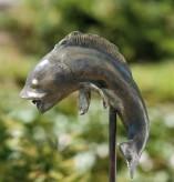 Gartenfigur Timpe Te der Fisch 96 Teichfigur als Wasserspiel Bronze Rottenecker