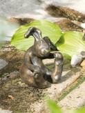 Bronzefigur Hase Kasper 14cm | Gartenfigur Bronze Rottenecker Ostern Dekoration