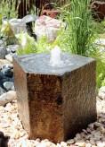 Wasserspiel SET Quellstein Basalt 60cm mit Quellschale Gartenbrunnen Springbrunnen