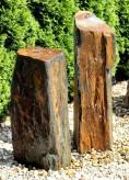 Wasserspiel SET 2er Monolith Säulen 108cm Schiefer Quellstein Gartenbrunnen