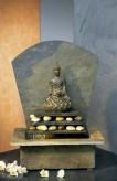 Zimmerbrunnen Sala 43 Feng-Shui Schieferbrunnen inkl. Beleuchtung und Buddha