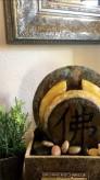 Zimmerbrunnen Tian 30 Wasserwand | Feng Shui Schieferbrunnen inkl. Beleuchtung