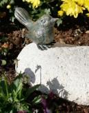 Bronzefigur Vogel sitzend 6cm Bronze Gartenfigur Rottenecker