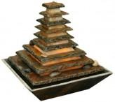 AUSSTELLUNGSSTÜCK - NUR ABHOLUNG! Zimmerbrunnen Pyramide 40 Feng Shui Schieferbrunnen inkl. Beleuchtung