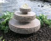 Wasserspiel SET Quellstein Zichi 48cm Granit Gartenbrunnen mit dreh. Glaskugel