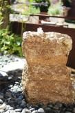 Wasserspiel SET Quellstein Muschelkalk 65cm Gartenbrunnen inkl. Pumpe
