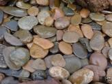 20kg (2,50€/kg) Panther Pebbles Ziersteine Naturrund flach 5-8 cm Kies