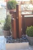 Zimmerbrunnen Cordon 3er Säulen   Cortenstahl Edelrost Design