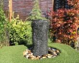 Wasserspiel SET Quellstein Säule 77cm Granit Gartenbrunnen inkl. Pumpe
