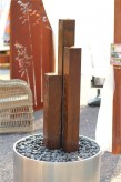 Wasserspiel SET Cordon 3er Säulen 130cm Cortenstahl Gartenbrunnen Edelrost Design