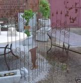 Vintage Paravent Eisen rostig mit Ornamenten, 3tlg. Deko für Garten Rankwand