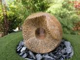 Wasserspiel SET Dong Kugel 40cm Granit Gartenbrunnen inkl. LED Beleuchtung