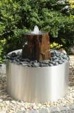 Gartenbrunnen Fiona 60cm Schiefer Edelstahl Springbrunnen freistehend