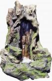 AUSSTELLUNGSSTÜCK! Zierbrunnen Huxy 83cm Polystone Wasserfall inkl. Pumpe und LED