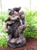Zierbrunnen Shipo 102cm Polystone Wasserfall Gartenbrunnen inkl. Pumpe und LED