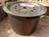 PE Becken mit GFK Deckel Ø 60 cm 65 Liter für Quellsteine Wasserspiele Zierbrunnen