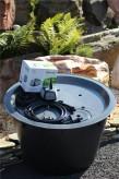 PE Becken mit GFK Deckel Ø 120 x 80 | Pumpe Messner system - X 3000 Wasserspiel Brunnen