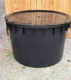 PE Becken mit GFK Deckel Ø 100 cm 500 Liter für Quellsteine Wasserspiele Zierbrunnen