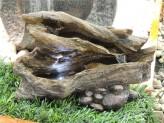 Zimmerbrunnen Yi 23cm Polystone Bachlauf Brunnen inkl. Pumpe und LED