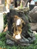 Zimmerbrunnen Laili 35 cm Polystone Wasserfall inkl. Pumpe und LED