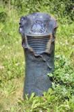 Gartenbrunnen Petalo 63cm Keramik Wasserspiel inkl. dreh. Glaskugel