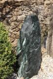 Wasserspiel SET Quellstein Monolith 106cm Marmor Gartenbrunnen inkl. Pumpe