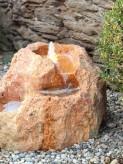 Wasserspiel SET Quellstein Bachlauf L80cm Marmor Bella Rossa Gartenbrunnen