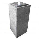 Zimmerbrunnen Pilla 75 grau inkl. Pumpe und LED Luftbefeuchter modern