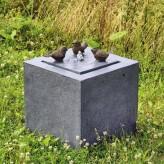 Vogeltreff Quelle 46 Polystone Springbrunnen inkl. Pumpe und LED