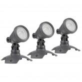LunAqua 3 LED Set 3 warm weiß Oase Strahler für Wasserspiele, Zierbrunnen und Quellsteine