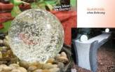 Glaskugel ohne Bohrung Ø 15 cm | für Zierbrunnen oder Wasserspiel