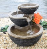 Dano Wasserfall 59cm Polystone Brunnen Steinoptik inkl. Pumpe LED
