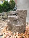AUSSTELLUNGSSTÜCK - NUR ABHOLUNG! Wasserspiel SET Quellstein Shugan 45cm Granit Bachlauf Gartenbrunnen