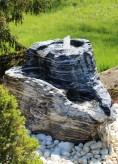 Wasserspiel SET Quellstein Bachlauf L85cm Marmor Black Angel Gartenbrunnen