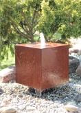 Wasserspiel SET Cortenstahl Würfel 60 Schwebeoptik Gartenbrunnen Edelrost