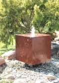 Wasserspiel SET Cortenstahl Würfel 50 Schwebeoptik Gartenbrunnen Edelrost