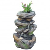 Wasserspiel Pelo 49cm Polystone Brunnen Gartenbrunnen inkl. Pumpe und LED