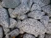 20kg (1,345 €/kg) Gletscher Granit edelgrau Ziersteine, gerundet 25-50mm