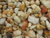 Quarz Zierkies (1,69 €/kg) Ziersteine gelb /weiß mediterran Naturrund ca.10-40mm