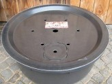 PE Becken mit GFK Deckel Ø 90 cm inkl. Stützelement für Quellsteine Wasserspiele